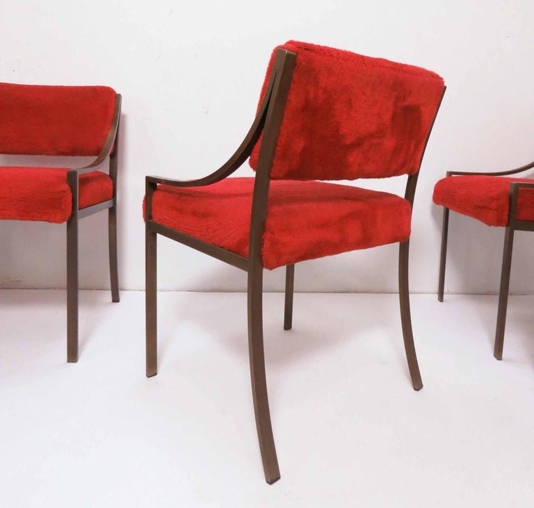 Set of Six Mastercraft Style Dining Chairs, circa 1970s For Sale 1