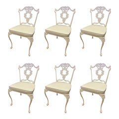 Set of Six Matching Signed Molla Italy Cabriole Leg Dining Chairs