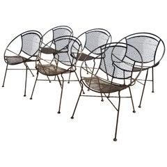 Set of Six Maurizio Tempestini for Salterini Patio Chairs