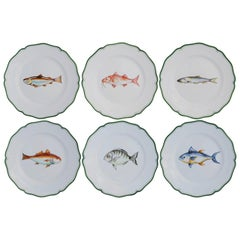 Set of Six Mediterraneo Ceramic Plates