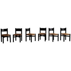 "Set of Six ""Meribel"" Chairs by Charlotte Perriand"