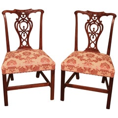 Set of Six Mid-18th Century Chippendale Mahogany Side Chairs