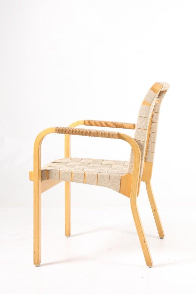 Mid-Century Modern Set of Six Midcentury Alvar Aalto Chairs by Artek, Model 45 For Sale