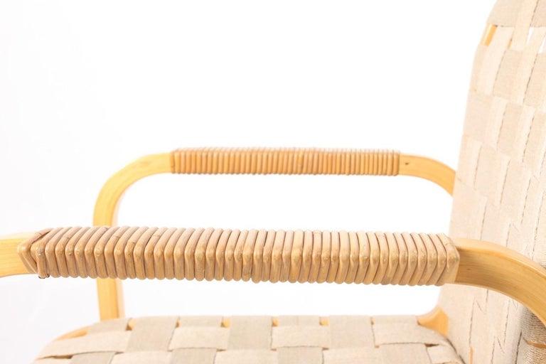 Finnish Set of Six Midcentury Alvar Aalto Chairs by Artek, Model 45 For Sale