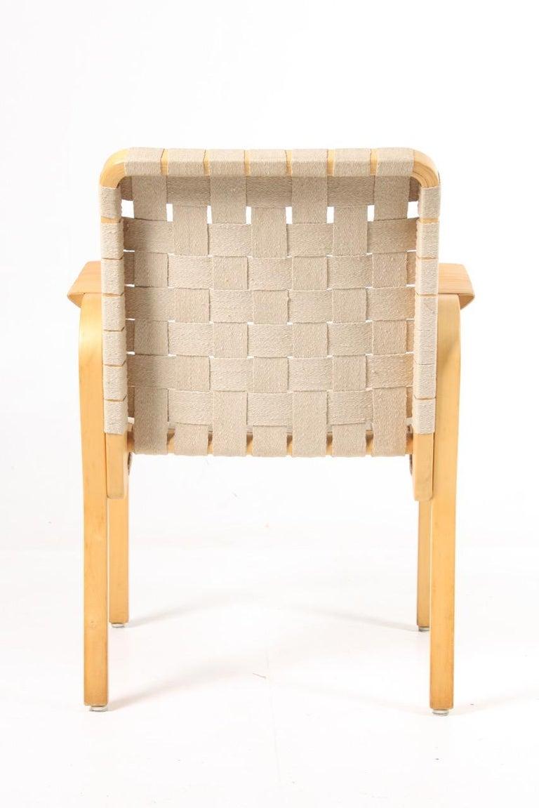 Mid-20th Century Set of Six Midcentury Alvar Aalto Chairs by Artek, Model 45 For Sale