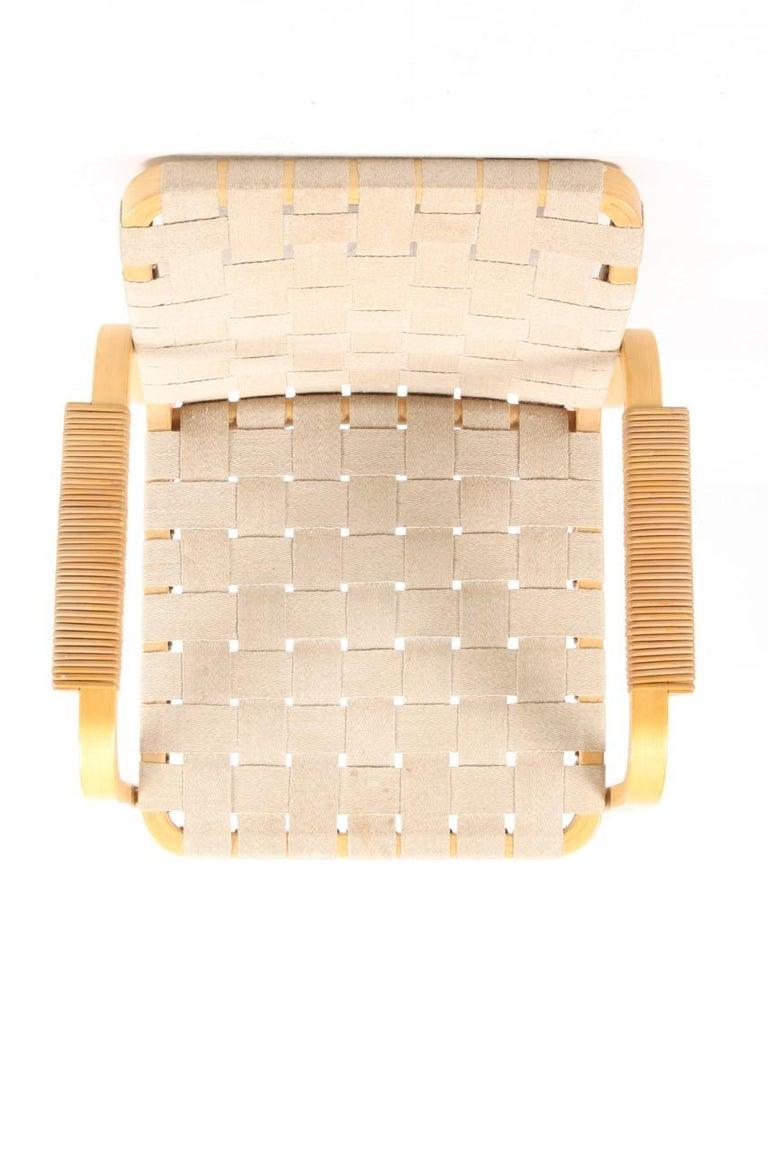 Set of Six Midcentury Alvar Aalto Chairs by Artek, Model 45 For Sale 1