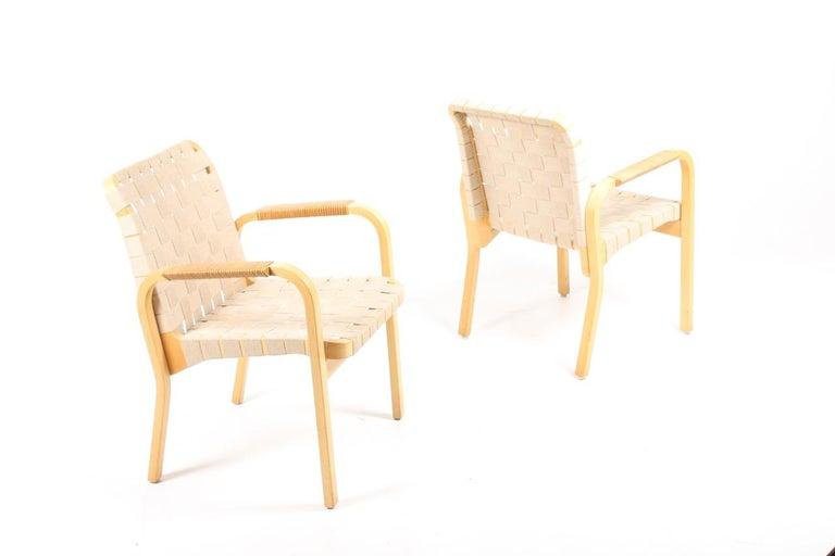 Set of Six Midcentury Alvar Aalto Chairs by Artek, Model 45 For Sale 2