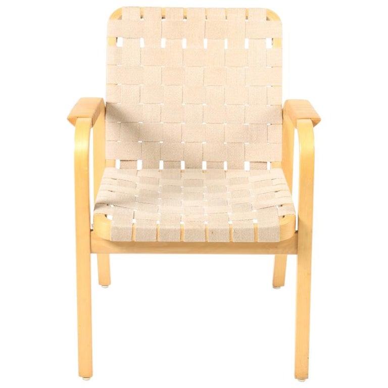 Set of Six Midcentury Alvar Aalto Chairs by Artek, Model 45 For Sale