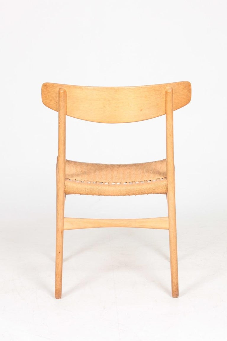 Set of Six Midcentury CH 23 Side Chairs in Oak by Wegner Danish Design, 1950s For Sale 2