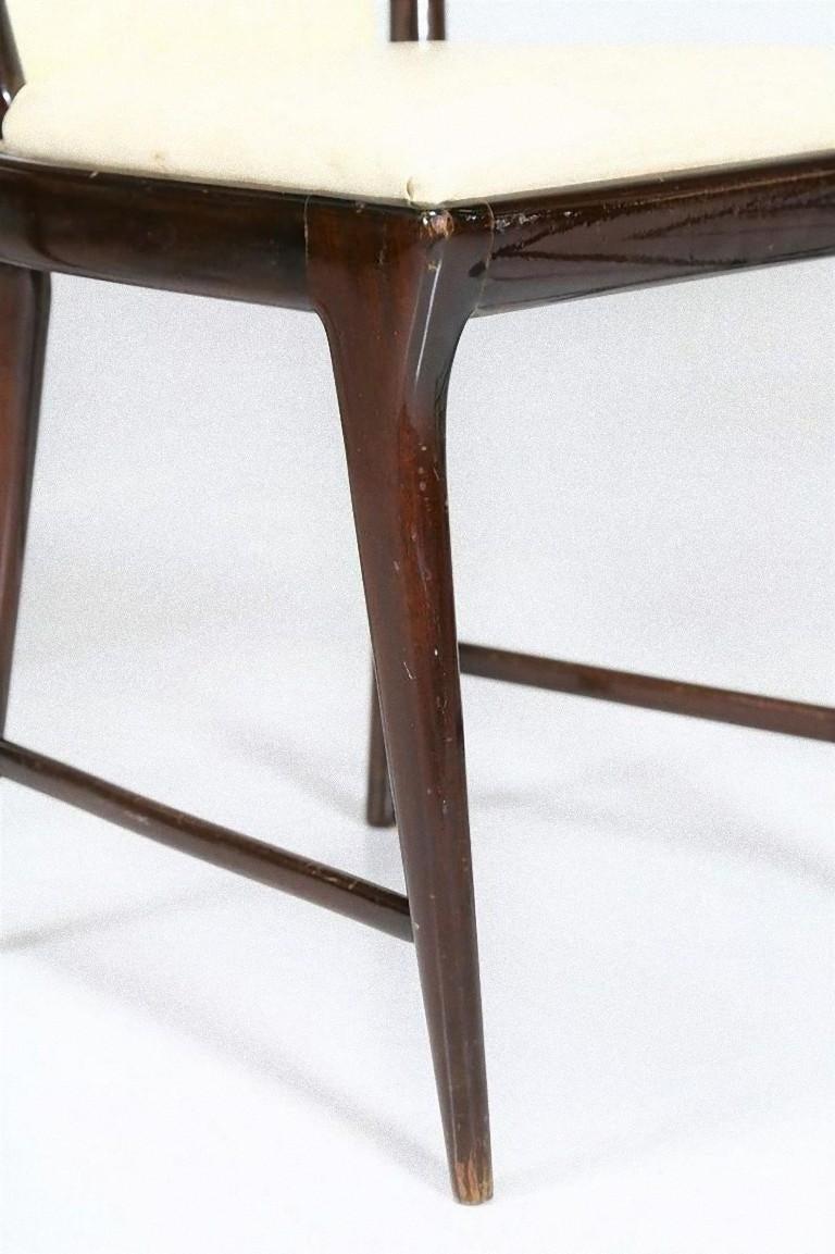Italian Set of Six Midcentury Chairs by Osvaldo Borsani 'attr.' For Sale