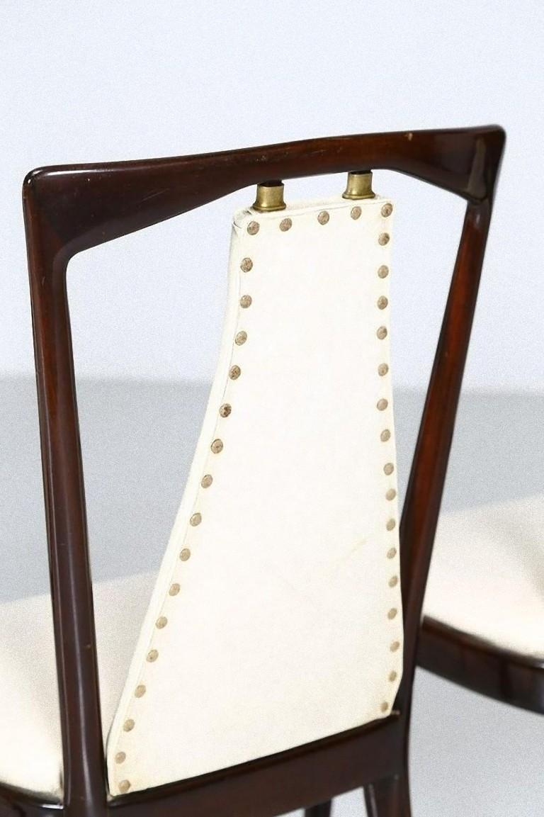 Set of Six Midcentury Chairs by Osvaldo Borsani 'attr.' In Good Condition For Sale In Roma, IT
