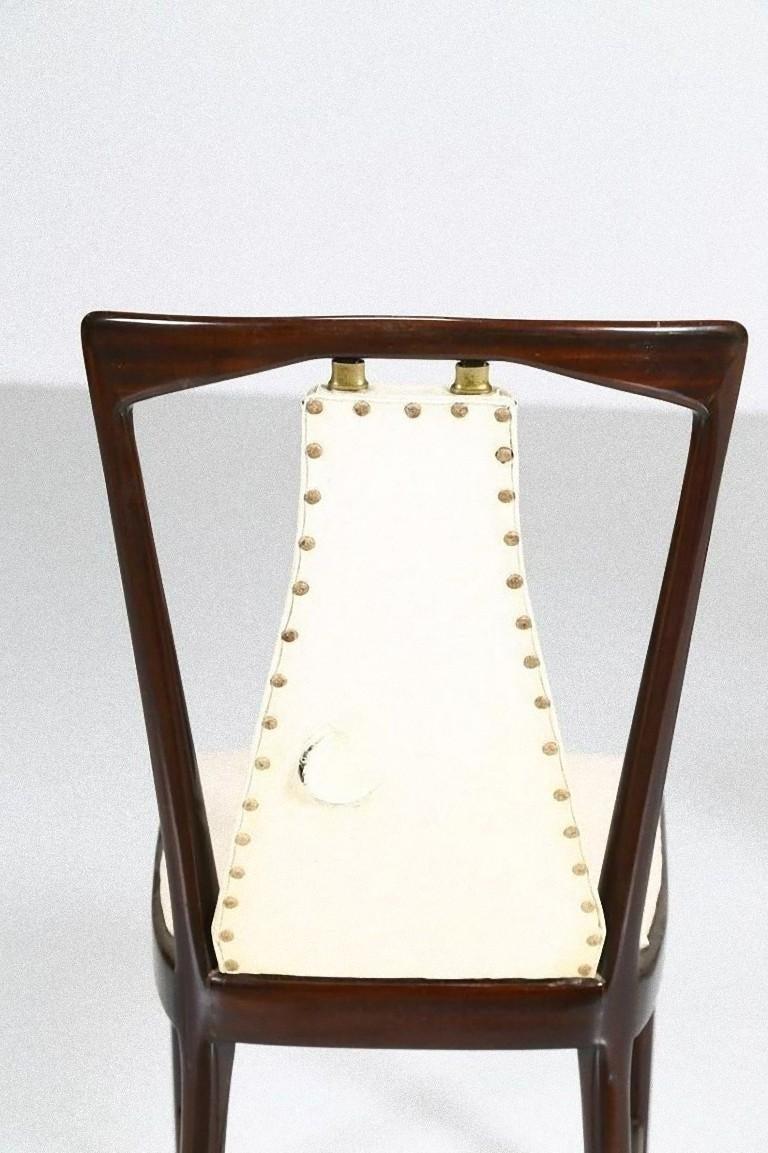 Mid-20th Century Set of Six Midcentury Chairs by Osvaldo Borsani 'attr.' For Sale