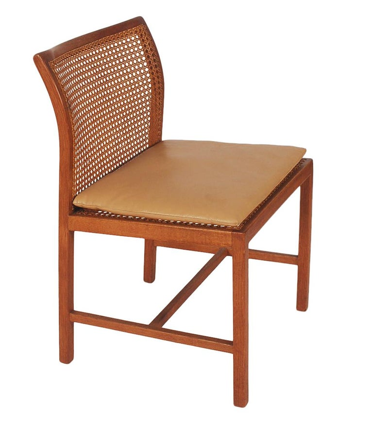 Set of Six Midcentury Danish Modern Cane Dining Chairs by Ditte & Adrian Heath 6