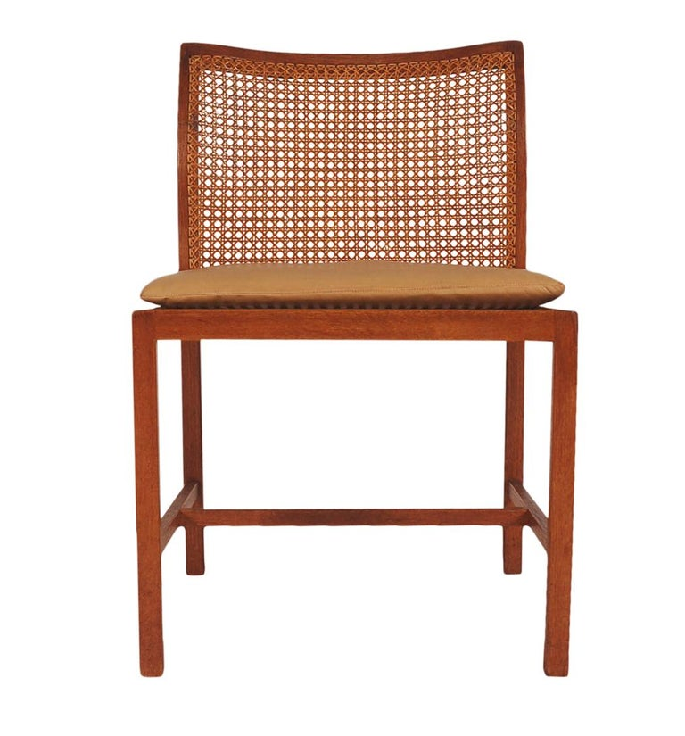 Set of Six Midcentury Danish Modern Cane Dining Chairs by Ditte & Adrian Heath 8