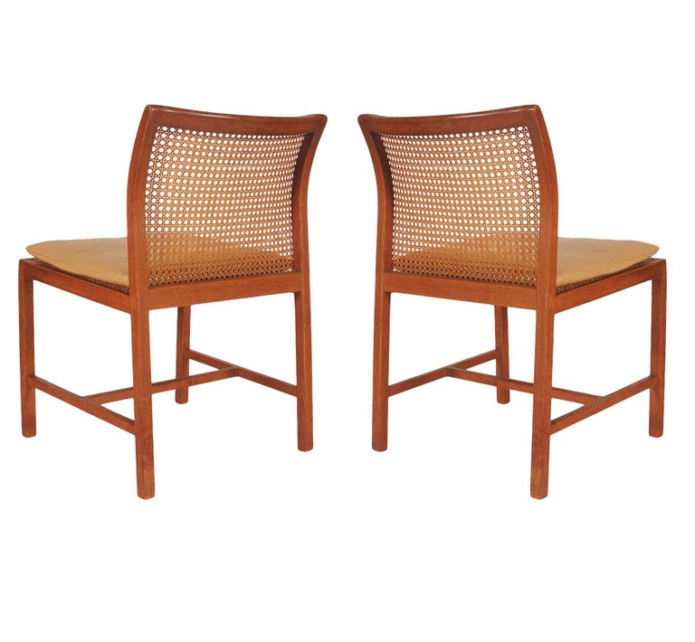 Set of Six Midcentury Danish Modern Cane Dining Chairs by Ditte & Adrian Heath In Good Condition In Philadelphia, PA