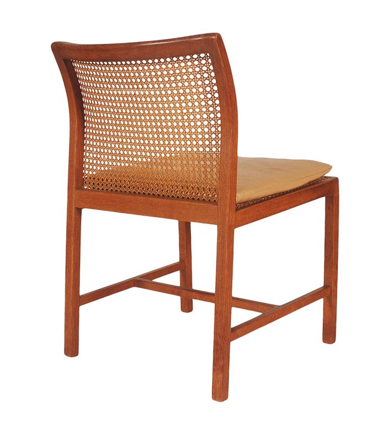 Set of Six Midcentury Danish Modern Cane Dining Chairs by Ditte & Adrian Heath 3