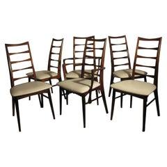 Set of Six Midcentury Danish Modern Rosewood Dining Chairs by Niels Koefoed