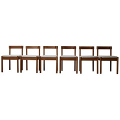 Set of Six Midcentury Dining Chairs '6'
