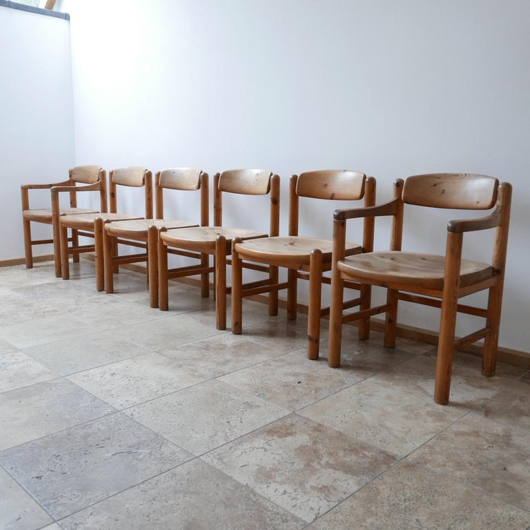 Mid-Century Modern Set of Six Midcentury Dining Chairs by Rainer Daumiller