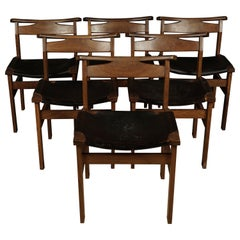 Set of Six Midcentury Dining Chairs from Holland, circa 1970