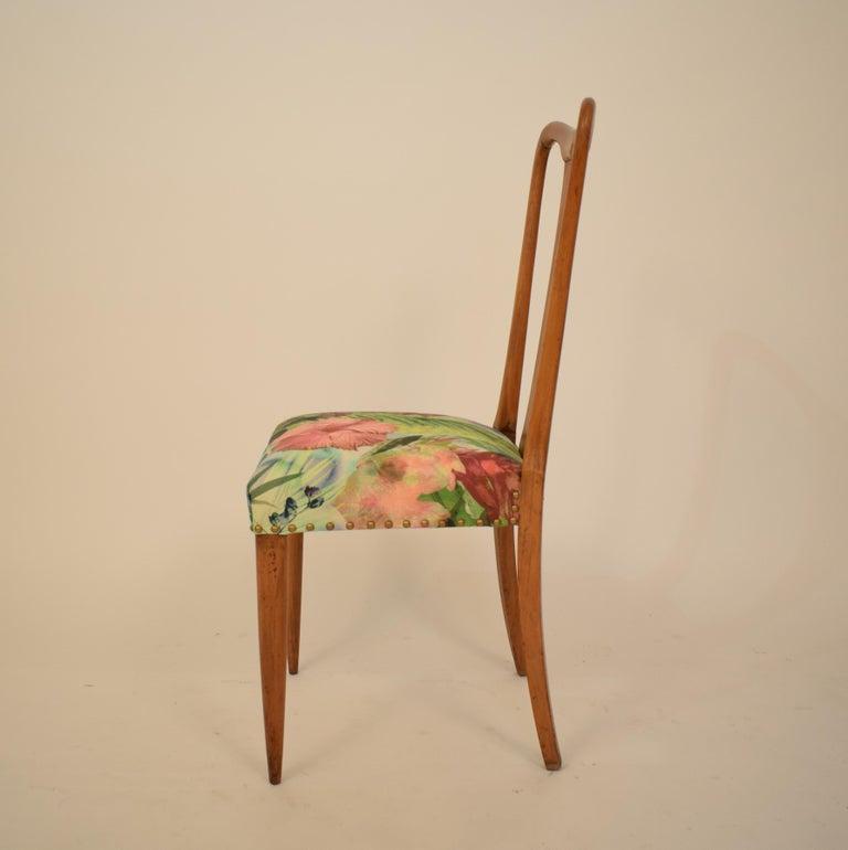 Set of Six Midcentury Italian Dining Chairs Attributed to Osvaldo Borsani, 1940 For Sale 6