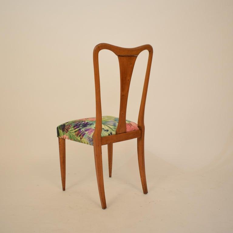 Set of Six Midcentury Italian Dining Chairs Attributed to Osvaldo Borsani, 1940 For Sale 10