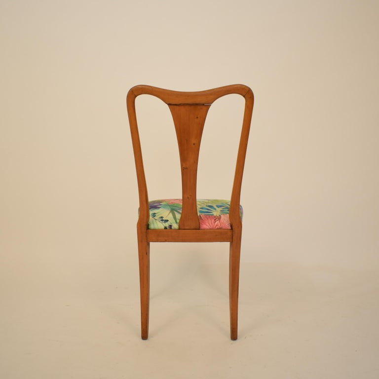 Set of Six Midcentury Italian Dining Chairs Attributed to Osvaldo Borsani, 1940 For Sale 11