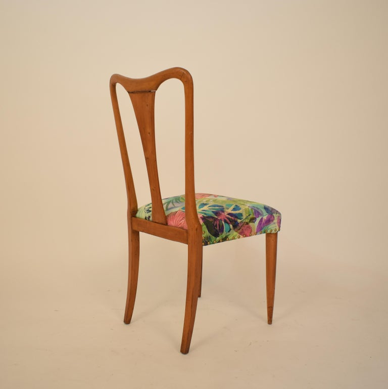 Set of Six Midcentury Italian Dining Chairs Attributed to Osvaldo Borsani, 1940 For Sale 12