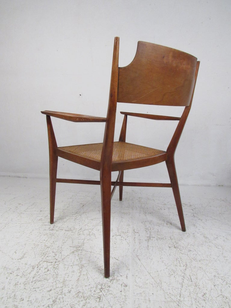 mid century modern dining room chairs | Set of Six Mid-Century Modern Cane and Walnut Dining ...