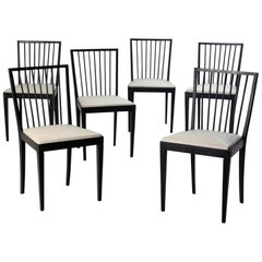 Set of Six Mid-Century Modern Chairs by Flama Móveis Manufacture, Brazil, 1950s