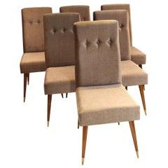 Set of Six Mid-Century Modern Chairs