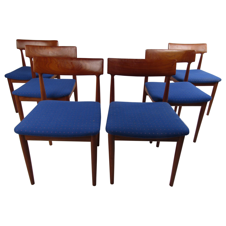 Set of Six Mid-Century Modern Danish Dining Chairs