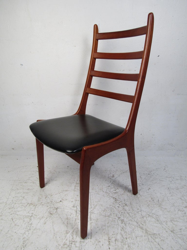 Late 20th Century Set of Six Mid-Century Modern Danish K.S. Dining Chairs For Sale