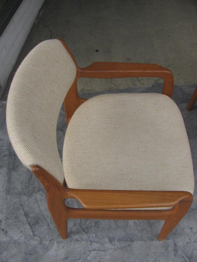 Scandinavian Modern Set of Six Mid-Century Modern Danish Teak Dining Chairs Benny Linden