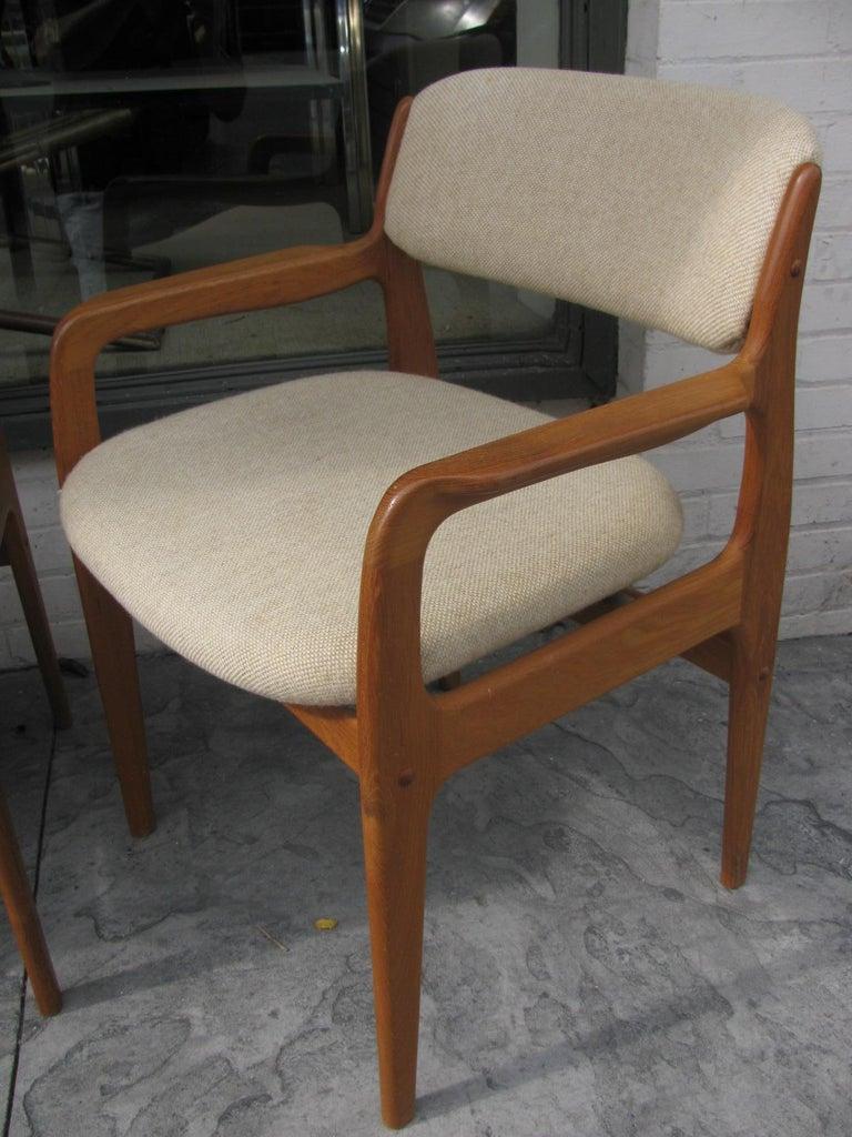Late 20th Century Set of Six Mid-Century Modern Danish Teak Dining Chairs Benny Linden