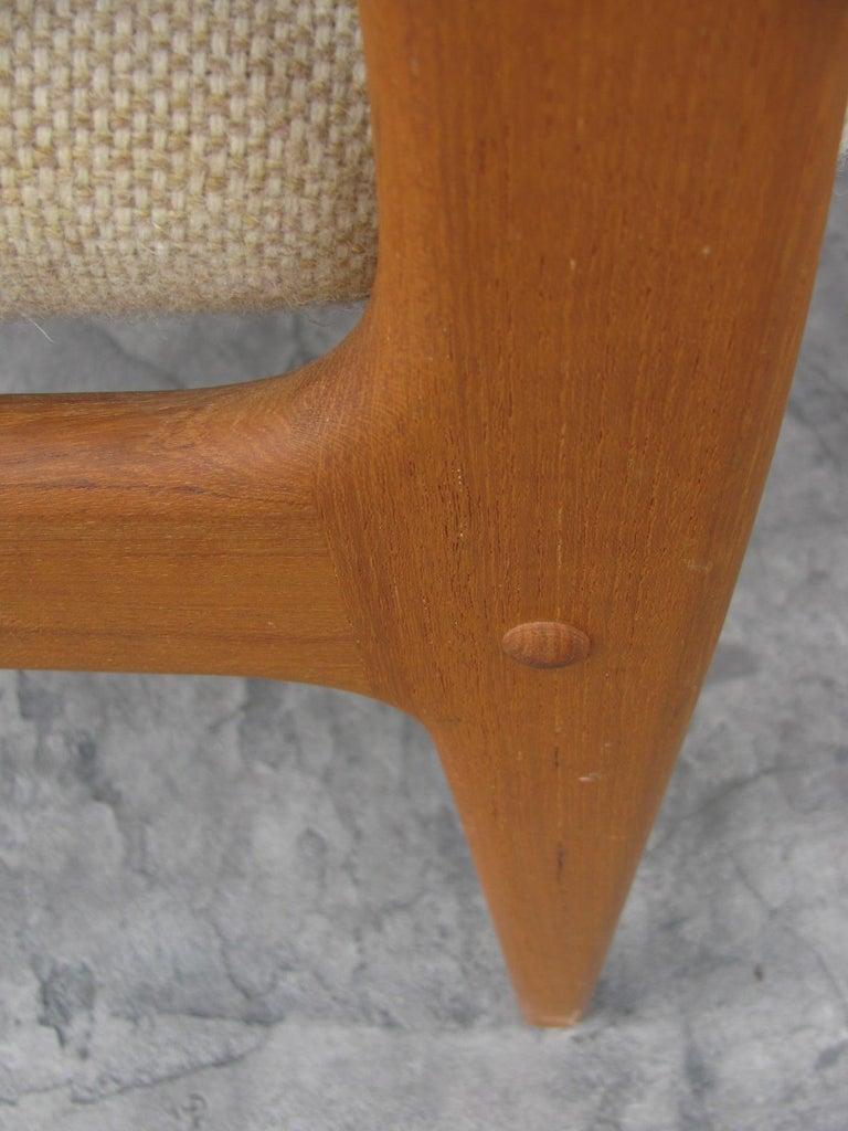 Set of Six Mid-Century Modern Danish Teak Dining Chairs Benny Linden 1