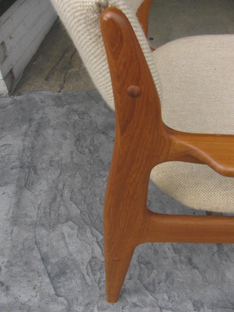 Set of Six Mid-Century Modern Danish Teak Dining Chairs Benny Linden 2