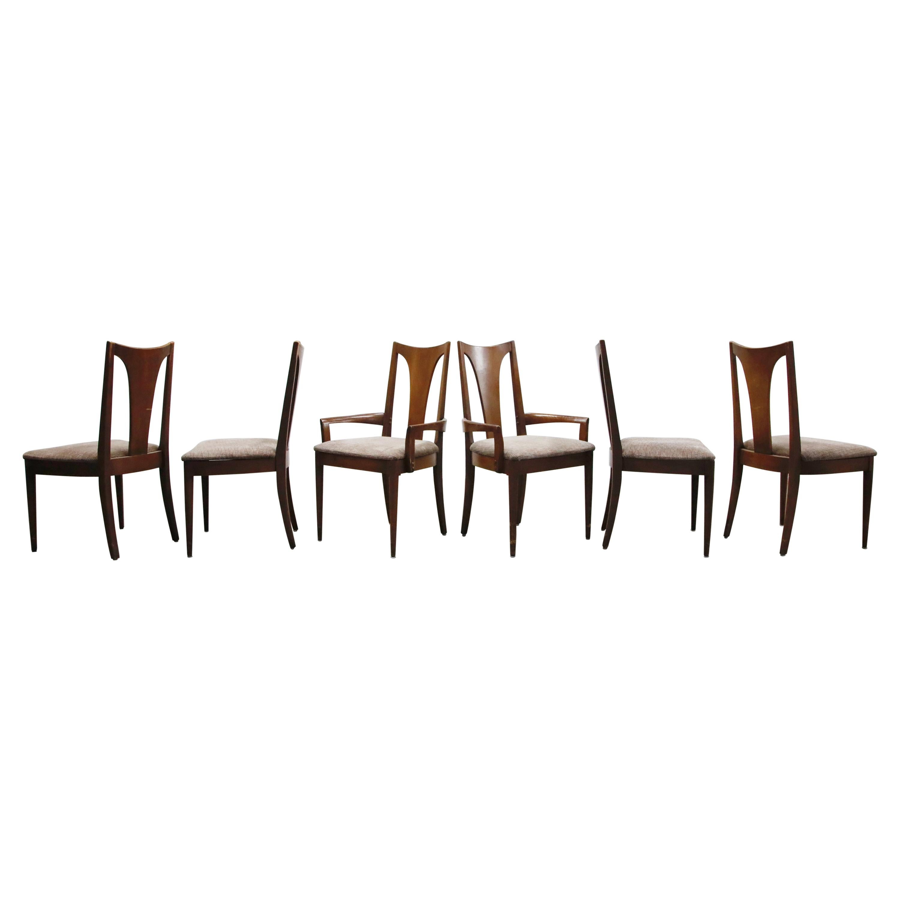 Set of Six Mid-Century Modern Dining Chairs by JB Van Sciver, circa 1960, Signed