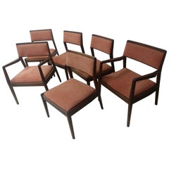 Set of Six Mid-Century Modern Dining Chairs by Jen's Risom