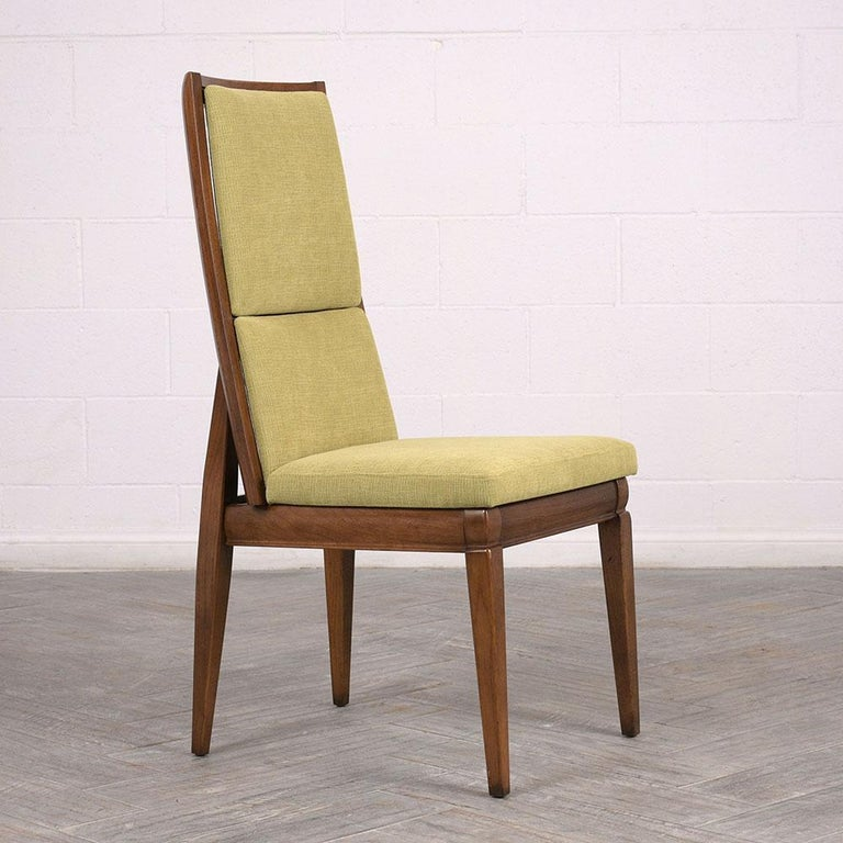 Mid Century Dining Room Chairs: Set Of Six Mid-Century Modern High Back Dining Room Chairs