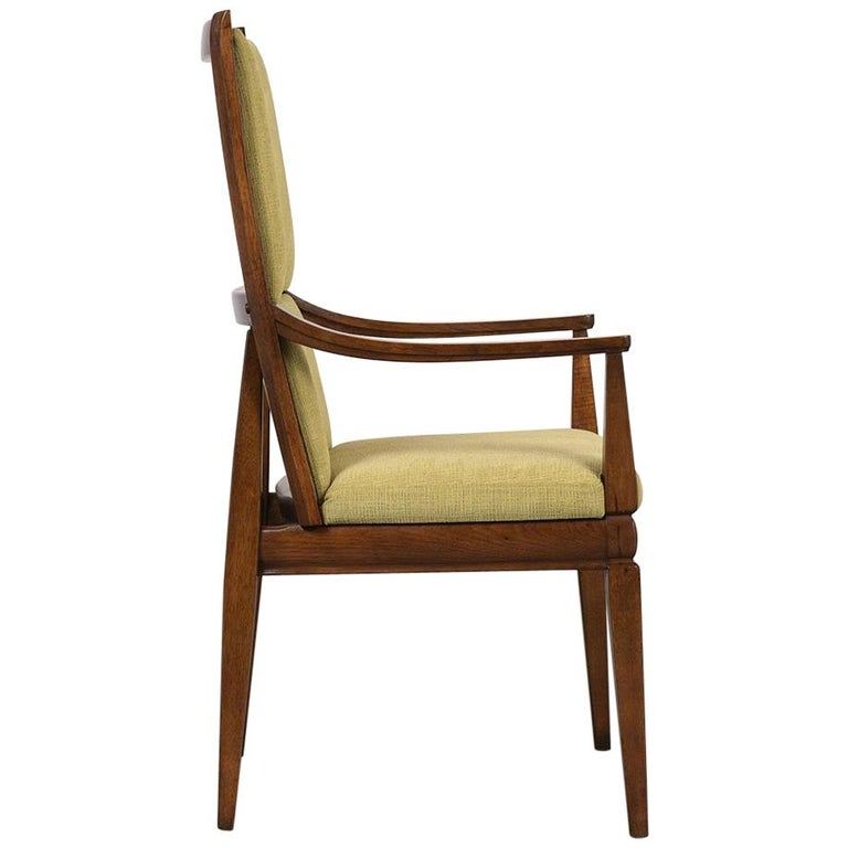 Set of Six Mid-Century Modern High Back Dining Room Chairs