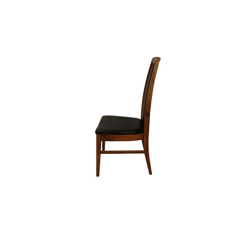 Set of Six Mid-Century Modern High Back Walnut Dining Chairs 2