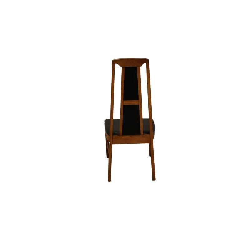 Set of Six Mid-Century Modern High Back Walnut Dining Chairs 3