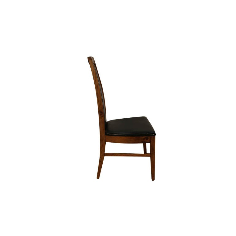 Set of Six Mid-Century Modern High Back Walnut Dining Chairs 4
