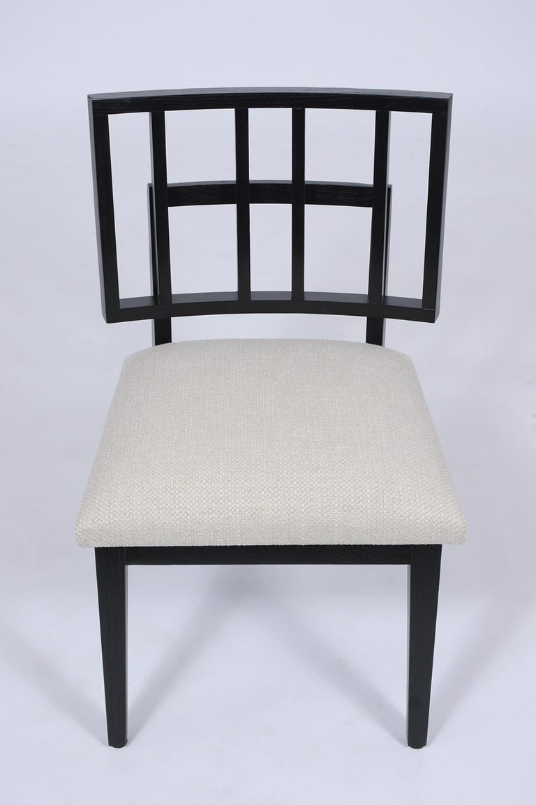 Set of Six Mid-Century Modern Ebonized Dining Chairs In Good Condition For Sale In Los Angeles, CA