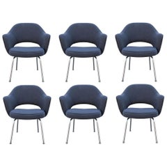 Set of Six Mid-Century Modern Saarinen Knoll Executive Armchairs