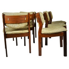 Set of Six Mid-Century Modern Scandinavian Teak Dining Chairs