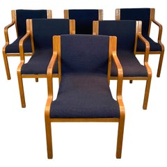 Set of Six Mid-Century Modern Stendig Stackable Dining Armchairs, circa 1960