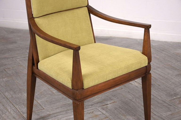 Carved Set of Six Mid-Century Modern Style Dining Room Chairs For Sale