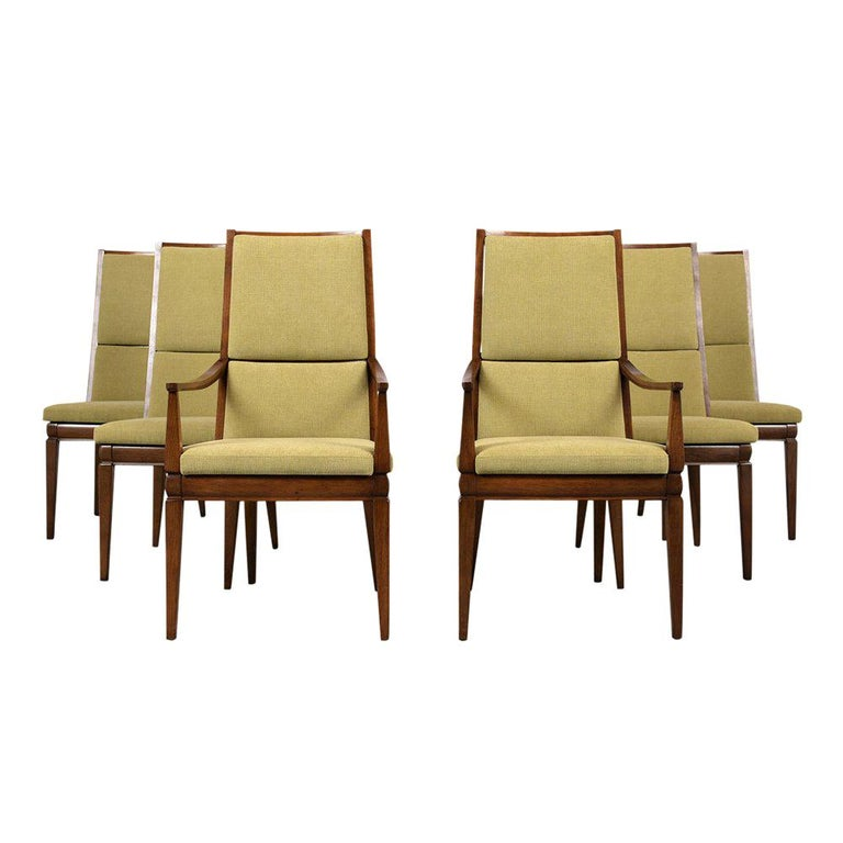 Set of Six Mid-Century Modern Style Dining Room Chairs For Sale